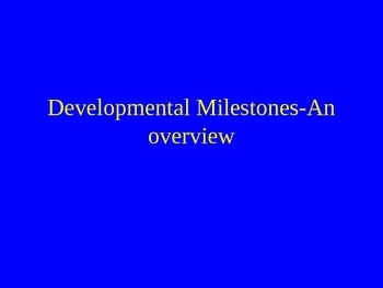 Developmental Milestones PowerPoint