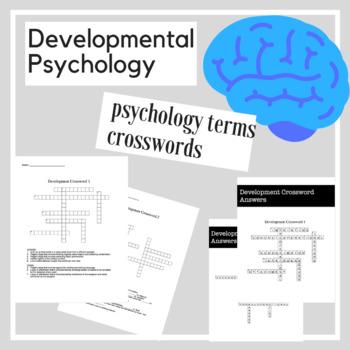 Developmental Psychology Crossword Practice | Psychology Activities