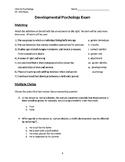 Developmental Psychology Exam