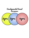 Developmental Sound Screeners: Ages 2-4