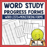 Word Study Progress Monitoring Assessments and Forms