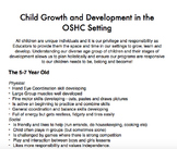 Developmental Stages in the OSHC Setting
