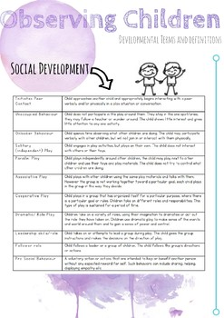 Developmental Terms and Definitions