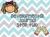 Developmental writing journal step 2 for beginning writers (Kindergarten)