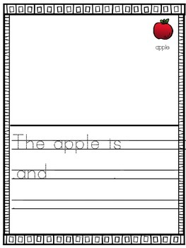 Developmental writing journal step 3 for beginning writers (Kindergarten)