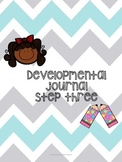 Developmental writing journal step 3 for beginning writers