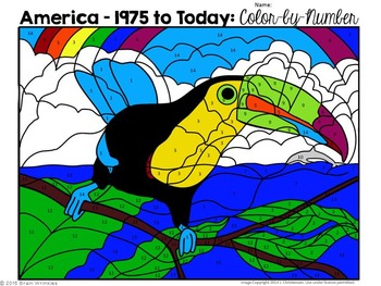 Developments in America Since 1975: Color-by-Number Activity