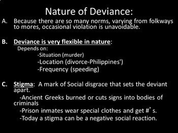 Deviance and Conformity Lesson