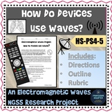 Distance Learning Science Electromagnetic Waves NGSS Research Project HS-PS4-5