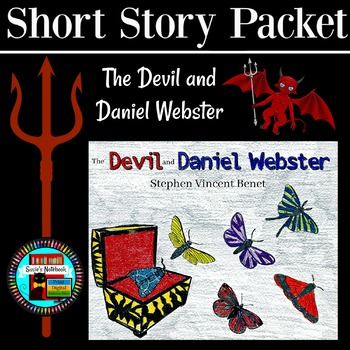 Devil and Daniel Webster Reading Questions, Writing and Coloring