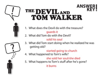 The devil and tom walker study questions