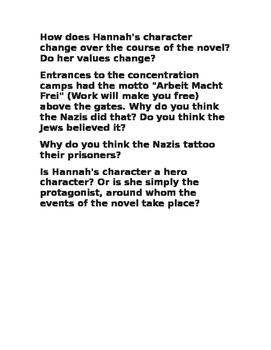 Devil's Arithmetic Essay Prompts