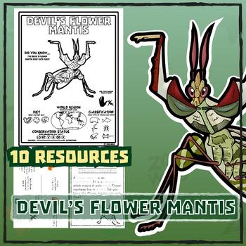 Devil's Flower Mantis -- 10 Resources -- Coloring Pages, R