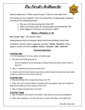 devil s arithmetic reading guide by mrs bs classroom tpt rh teacherspayteachers com the devil's arithmetic study guide questions and answers chapters 5-7 the devil's arithmetic study guide questions and answers chapters 14-16