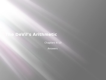 Devil's Arithmetic chapters 6-10 Answers