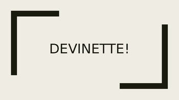 Devinette Review Game