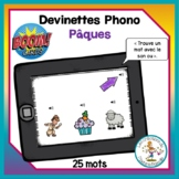 Devinettes phono - Pâques - Boom Cards in French - Distanc