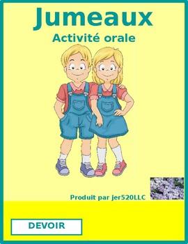 Devoir (French verb) Jumeaux Speaking activity