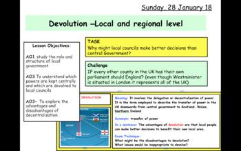 Devolution at local and regional level  GCSE CITIZENSHIP 9-1