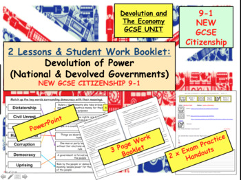 Devolution of Power  GCSE CITIZENSHIP 9-1