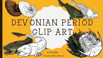 Devonian Period Creatures Clip Art