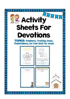 Devotions Activity Sheets