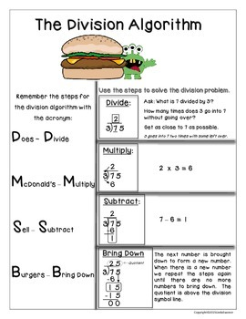 Division Made Easy!  Common Core Aligned