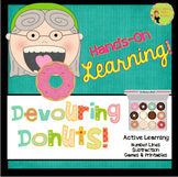 Number Line Subtraction Donuts