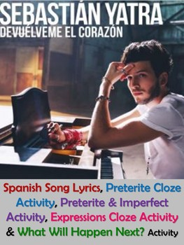 Devuelveme el Corazon Spanish Song Lyrics & Activities -Sebastian Yatra - Musica