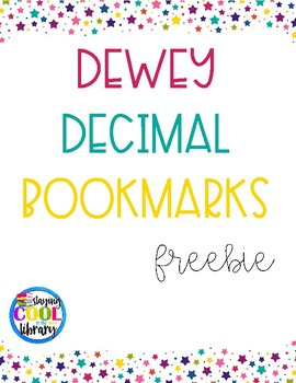 It is a graphic of Delicate Dewey Decimal System Printable Bookmarks