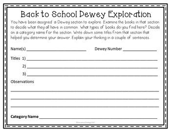 Dewey Decimal Back to School