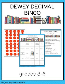 dewey decimal bingo by picturebookpush teachers pay teachers. Black Bedroom Furniture Sets. Home Design Ideas