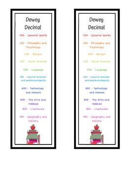 Dewey Decimal Bookmark