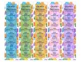 Dewey Decimal Bookmarks - Valentine's Day