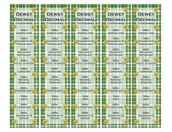 Dewey Decimal Booksmarks - St. Patrick's Day