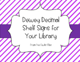 Dewey Decimal Bulletin Board / Non Fiction Shelf Signs for