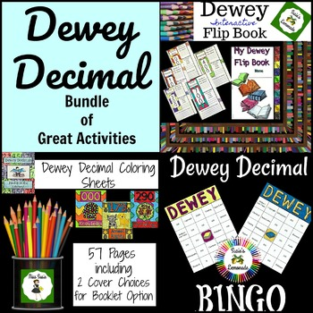 Dewey Decimal Bundle of Great Activities Coloring, Games, Signage and More