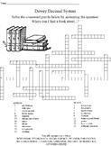 Dewey Decimal Crossword Puzzle