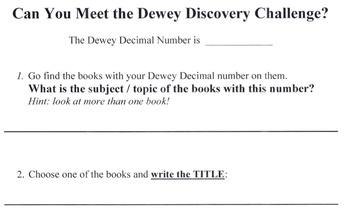 Dewey Decimal Discovery Challenge