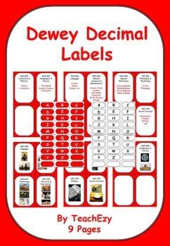 Dewey Decimal Labels