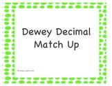 Dewey Decimal Match Up Puzzles