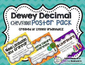 Dewey Decimal Poster Pack- Chevron