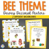 Dewey Decimal Posters - Bee Theme