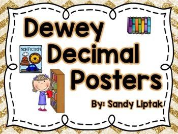 Dewey Decimal Posters (Bright Chevron)