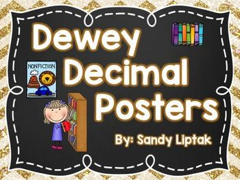 Dewey Decimal Posters (Chalkboard)