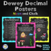 Dewey Decimal Posters (Neon and Chalkboard)