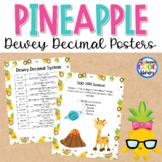 Dewey Decimal Posters - Pineapple Theme