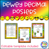 Dewey Decimal Posters - Rainbow Emoji Background