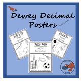 Dewey Decimal Posters in Black & White (US & UK Spellings!)