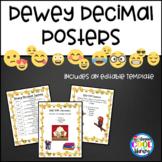 Dewey Decimal Posters - White Emoji Background